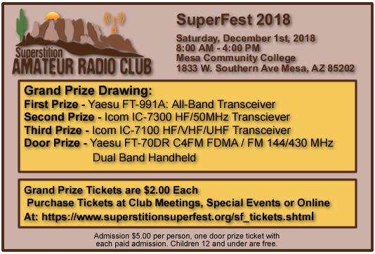 Superstition SuperFest 2018 Grand Prize Tickets!